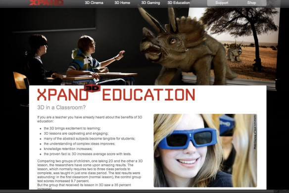 screen shot of XPAND page